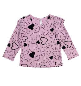 Pink Peony Light Pink Confetti Love Ruffle Top