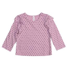 Pink Peony Light Pink Confetti Hearts Ruffle Top