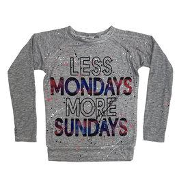 Firehouse Less Mondays More Sundays Splatter Top