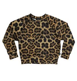 Terez Leopard Goals Crewneck Sweatshirt