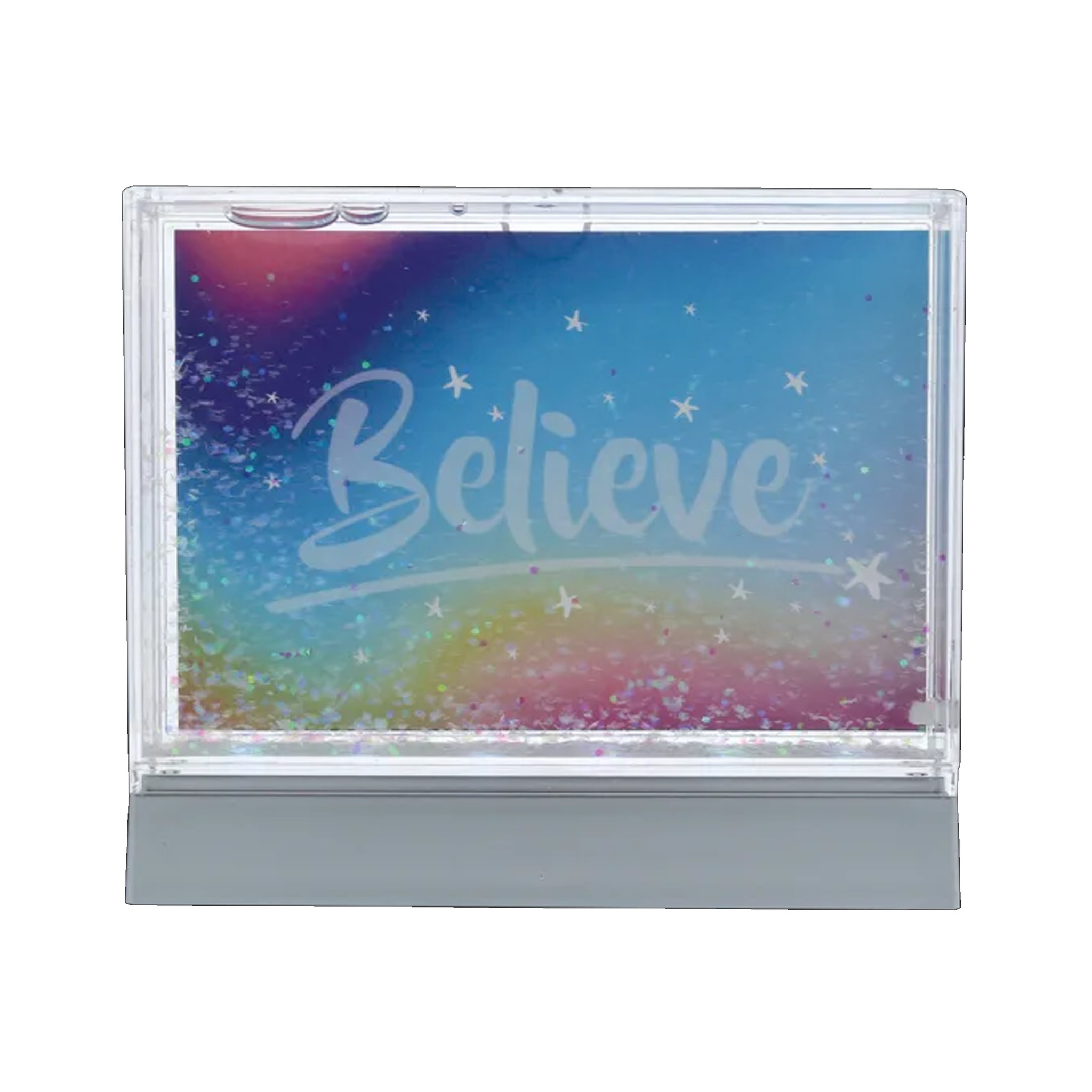 Light Up Glitter Picture Frame