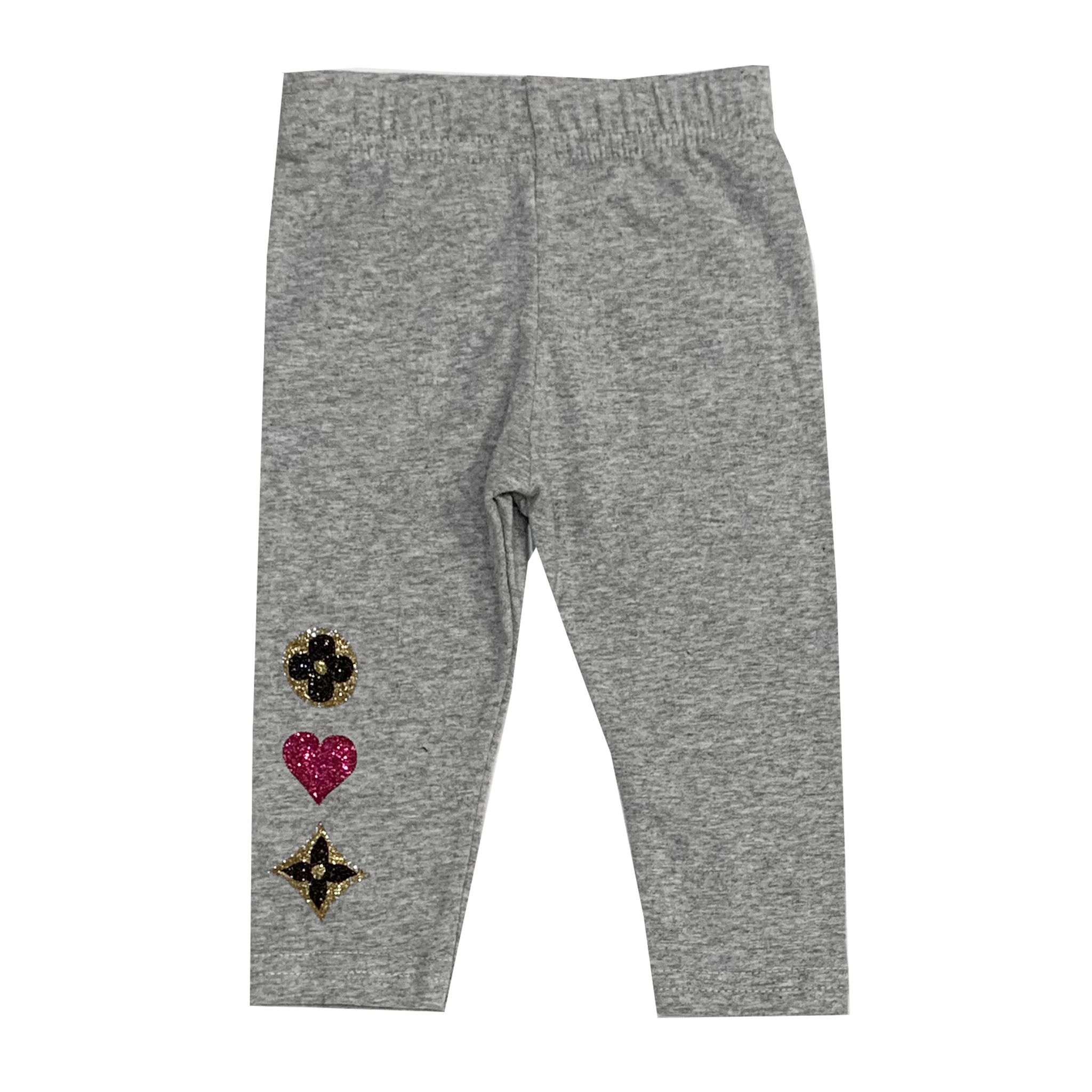 Small Change Grey Leggings with Love Icons