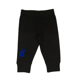 Small Change Pant with Blue Peace Hand