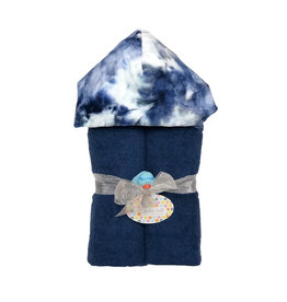 Baby Jar Navy Tie Dye Hooded Towel