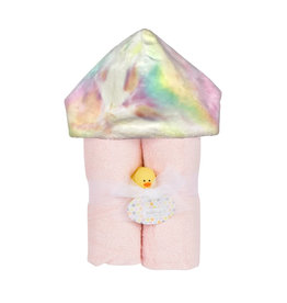 Baby Jar Pastel Rainbow Tie Dye Hooded Towel