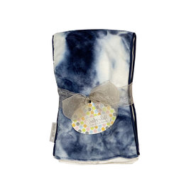 Baby Jar Navy Tie Dye Burp Cloth