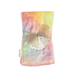 Baby Jar Pastel Rainbow Tie Dye Burp Cloth