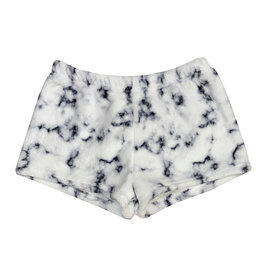 Penelope Wildberry White Marble Plush Lounge Shorts