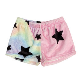 Penelope Wildberry Pastel Star Plush Lounge Shorts