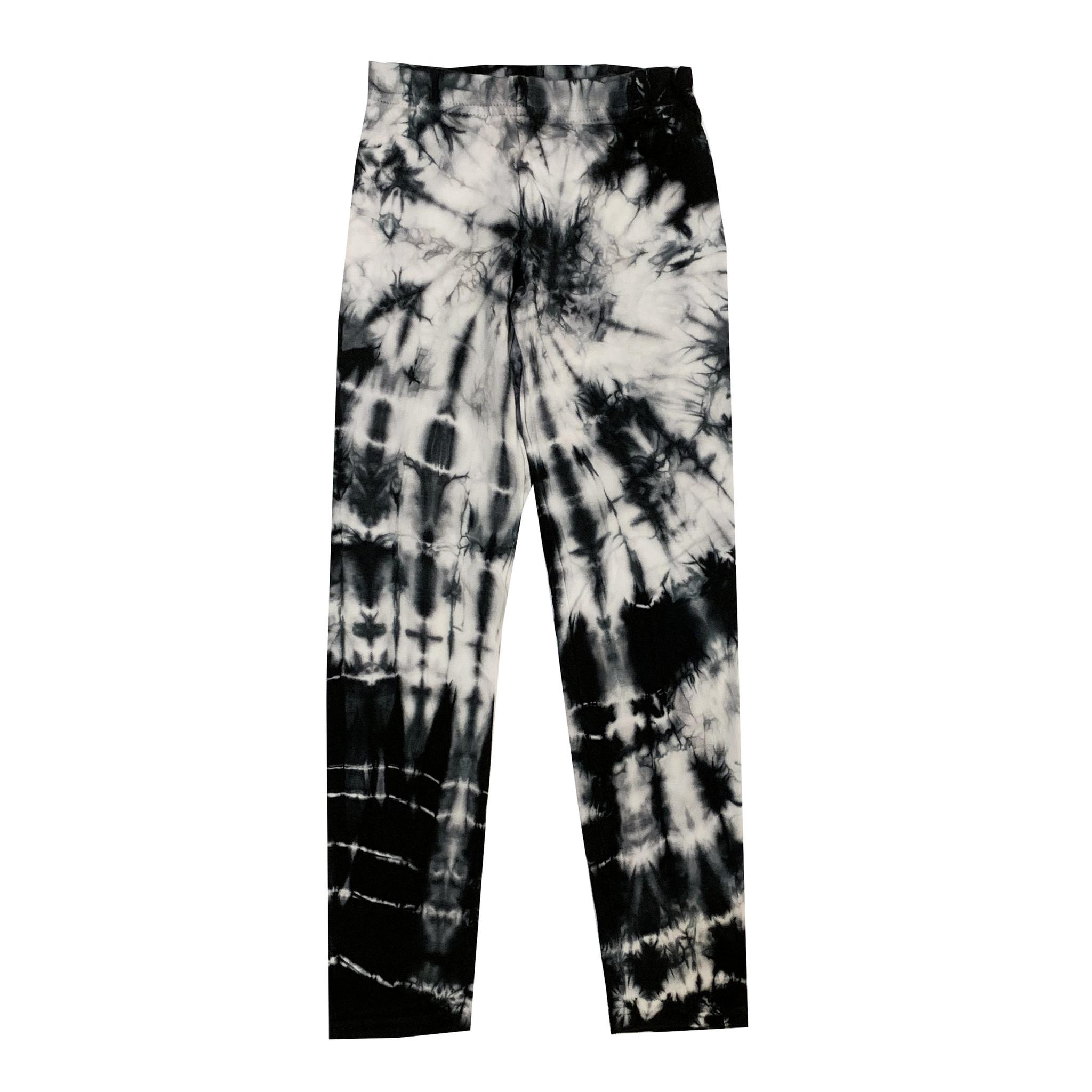 Firehouse Black & White Tie Dye Leggings