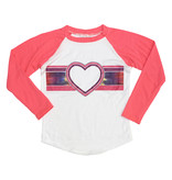 Firehouse Heart Stripe Baseball Top