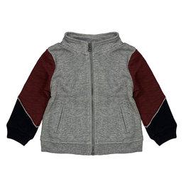 Splendid Three Tone Zip Up Sweatshirt