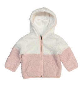 Splendid Pink & White Sherpa Jacket