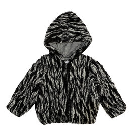 Splendid Braided Faux Fur Jacket