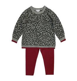 Splendid Leopard Sweater & Legging Toddler Set