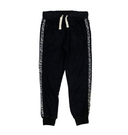 Vintage Havana Leopard Trim Inside-Out Junior Sweatpant