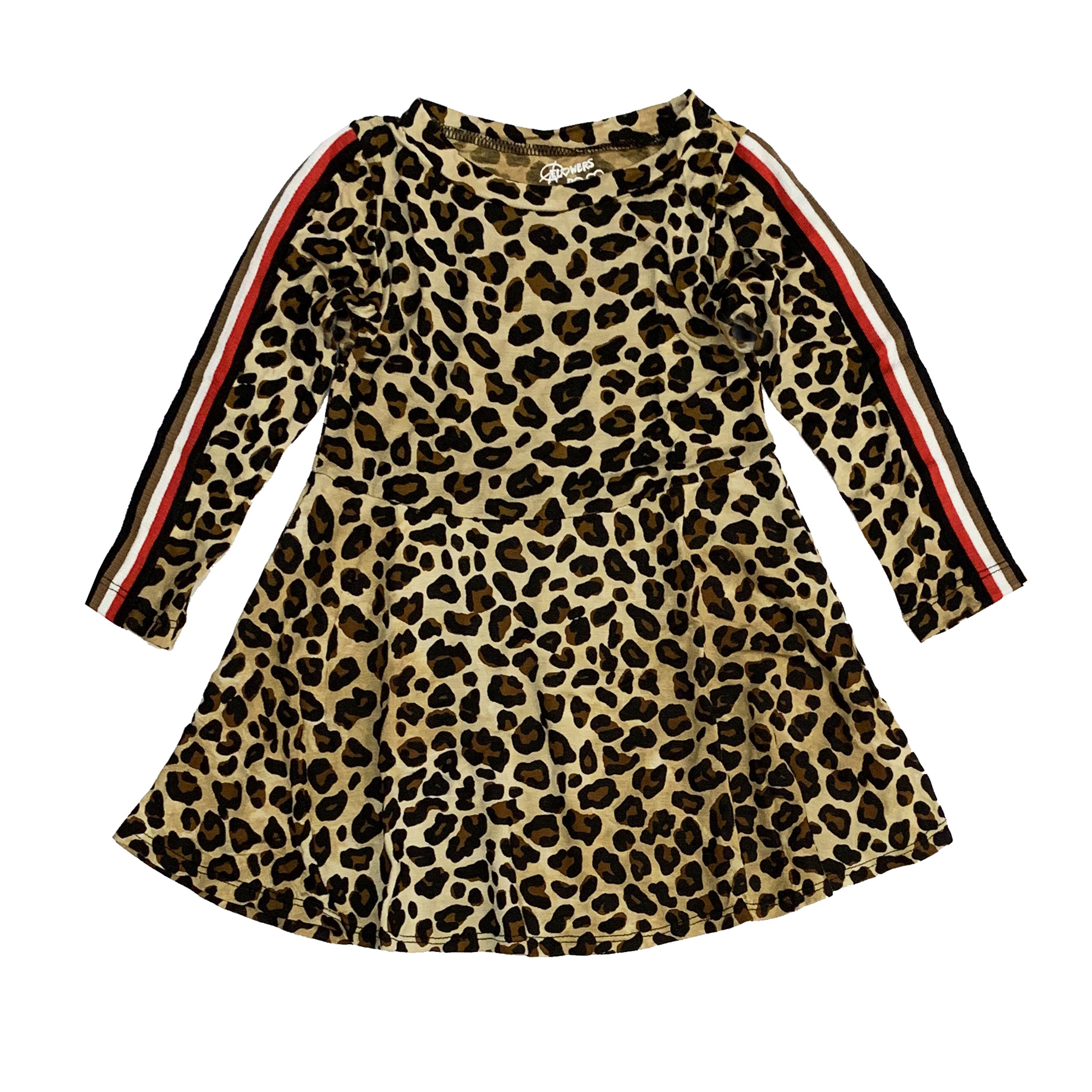 Flowers by Zoe Toddler Leopard Dress with Taping