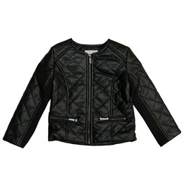 Habitual Quilted Faux Leather Jacket