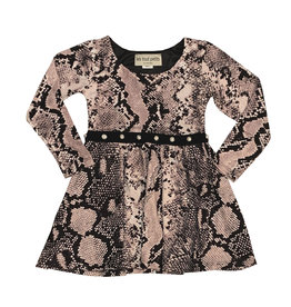 Les Tout Petits Blush Snake Print Dress