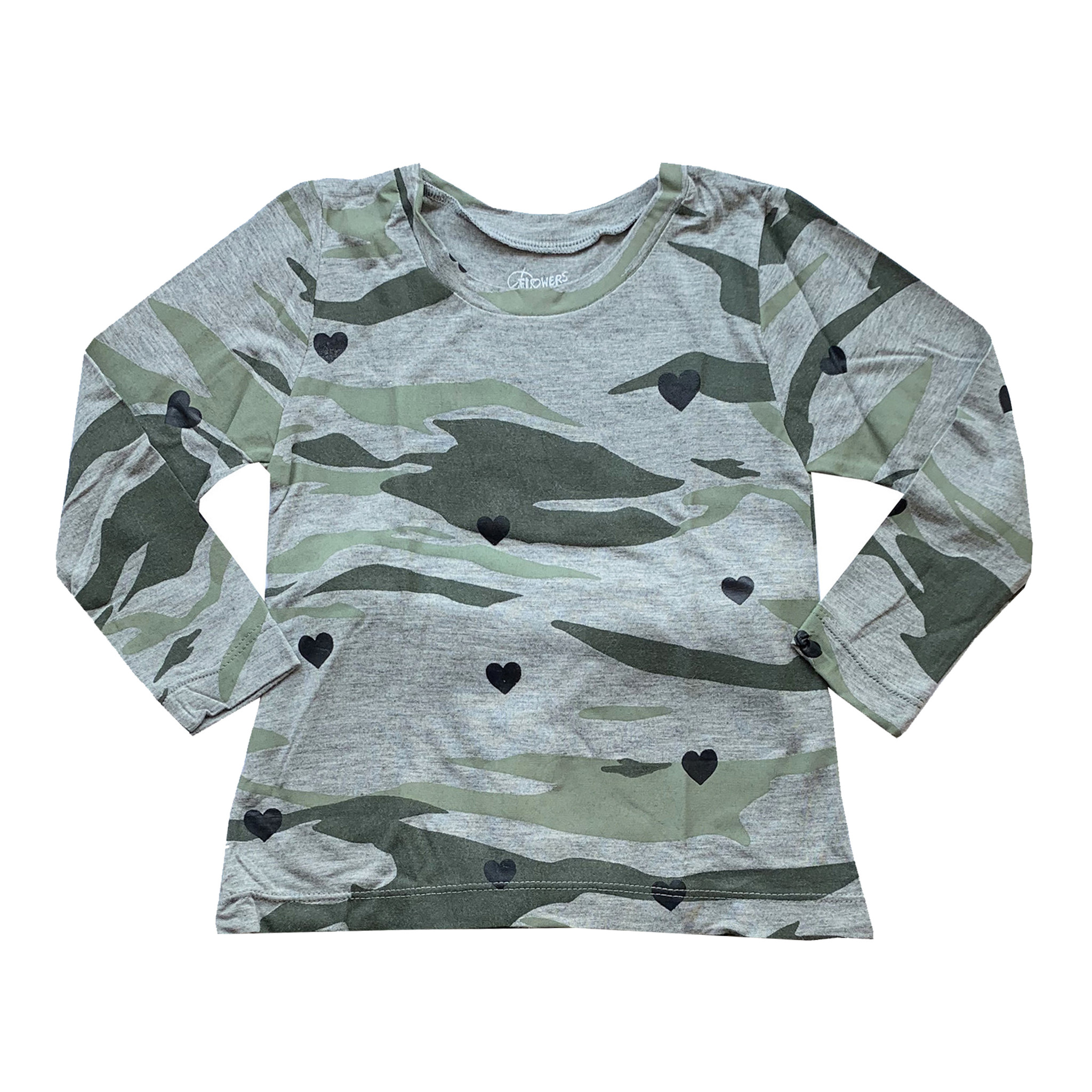 Flowers by Zoe Camo & Hearts Toddler Top