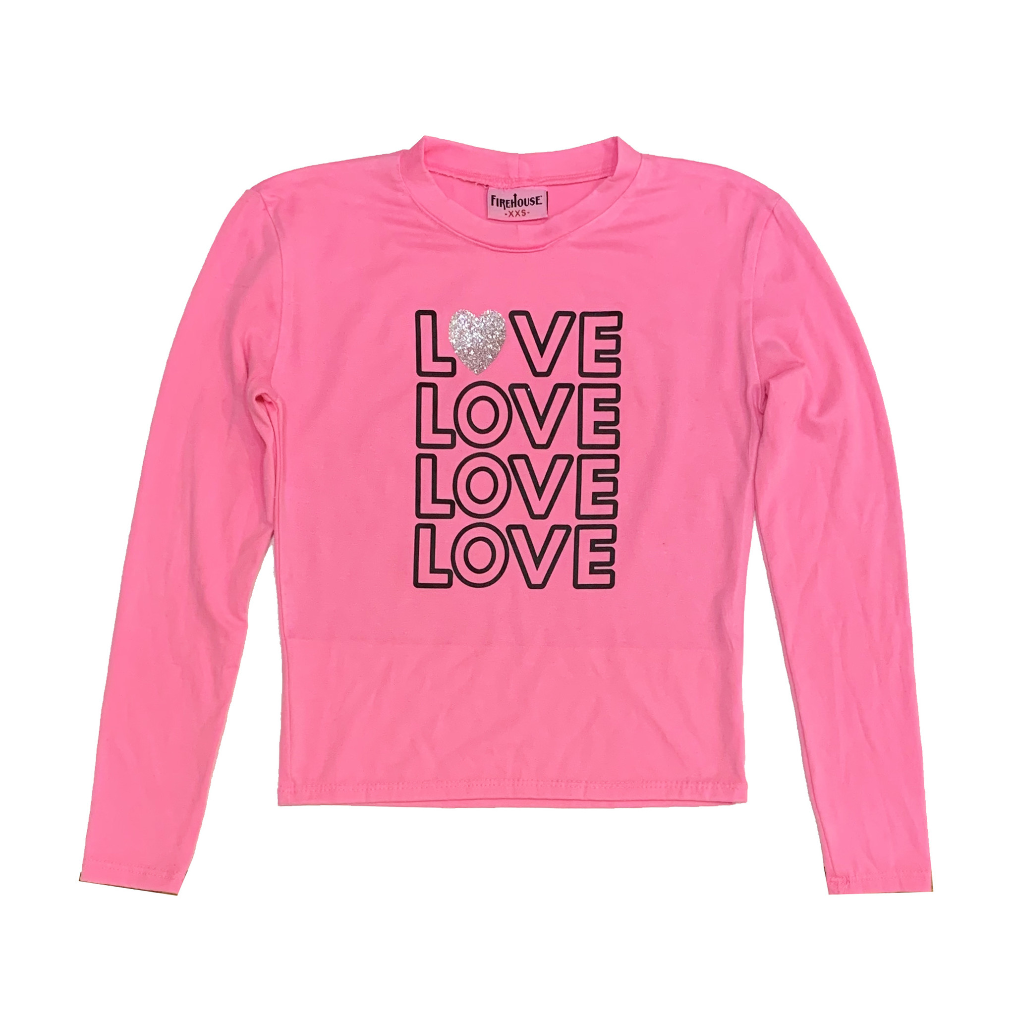 Firehouse Neon Pink Love Top