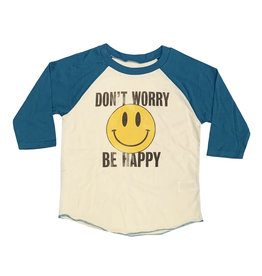 Rowdy Sprout Don't Worry Be Happy Raglan