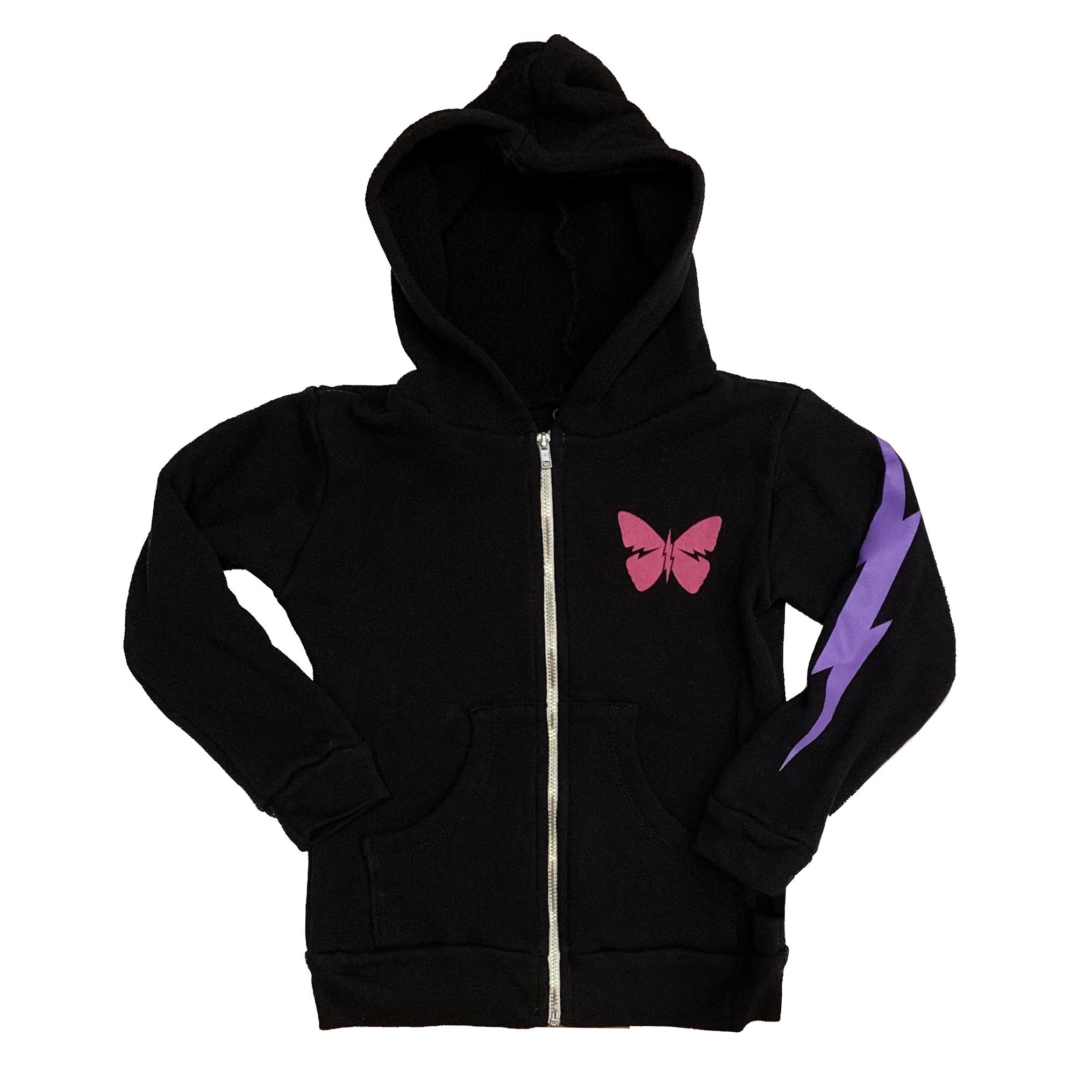 Lauren Moshi Rainbow Butterfly Zip Hoodie