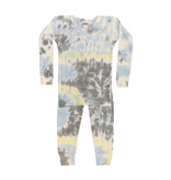 Baby Steps Light Blue Tie Dye Thermal Pajama Set