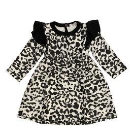 Cozii White Leopard Knit Dress