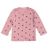 Cozii Pink Mini Hearts Crew Neck Top