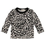 Cozii White Leopard Crew Neck Top