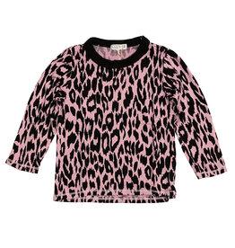 Cozii Pink Leopard Crew Neck Top
