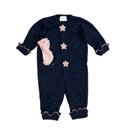 Too Sweet Navy Outfit with Pink Splatter