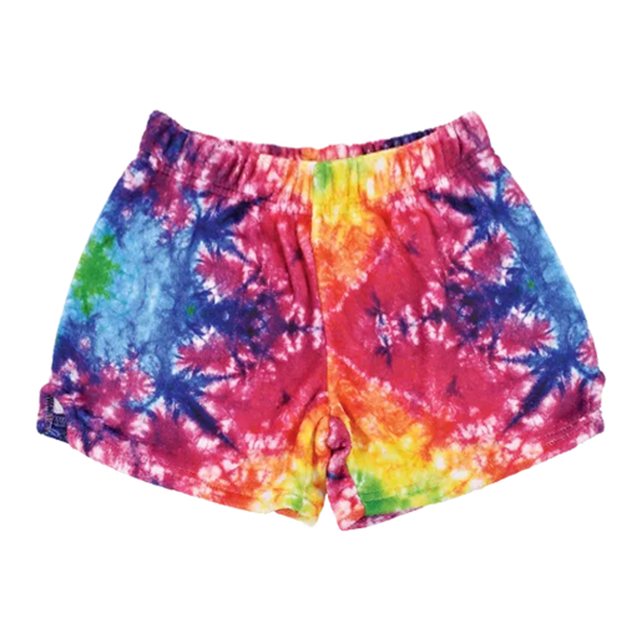 Bright Tie Dye Plush Lounge Shorts