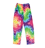 Bright Tie Dye Plush Lounge Pants