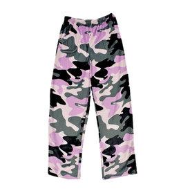 Purple Camo Print Plush Lounge Pants