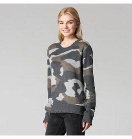 Fate Distressed Camoflauge Sweater