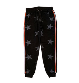 Vintage Havana Junior Black Star Sweatpant with Contrast Stripe
