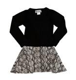 Dori Creations Black Snake Print Dress