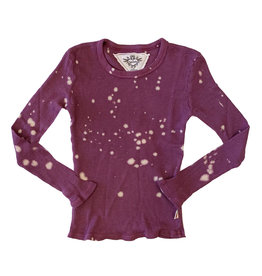 T2Love Thermal Bleach Splatter Top With Thumbhole