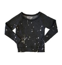 T2Love Bleach Splatter Side Zip Sweatshirt