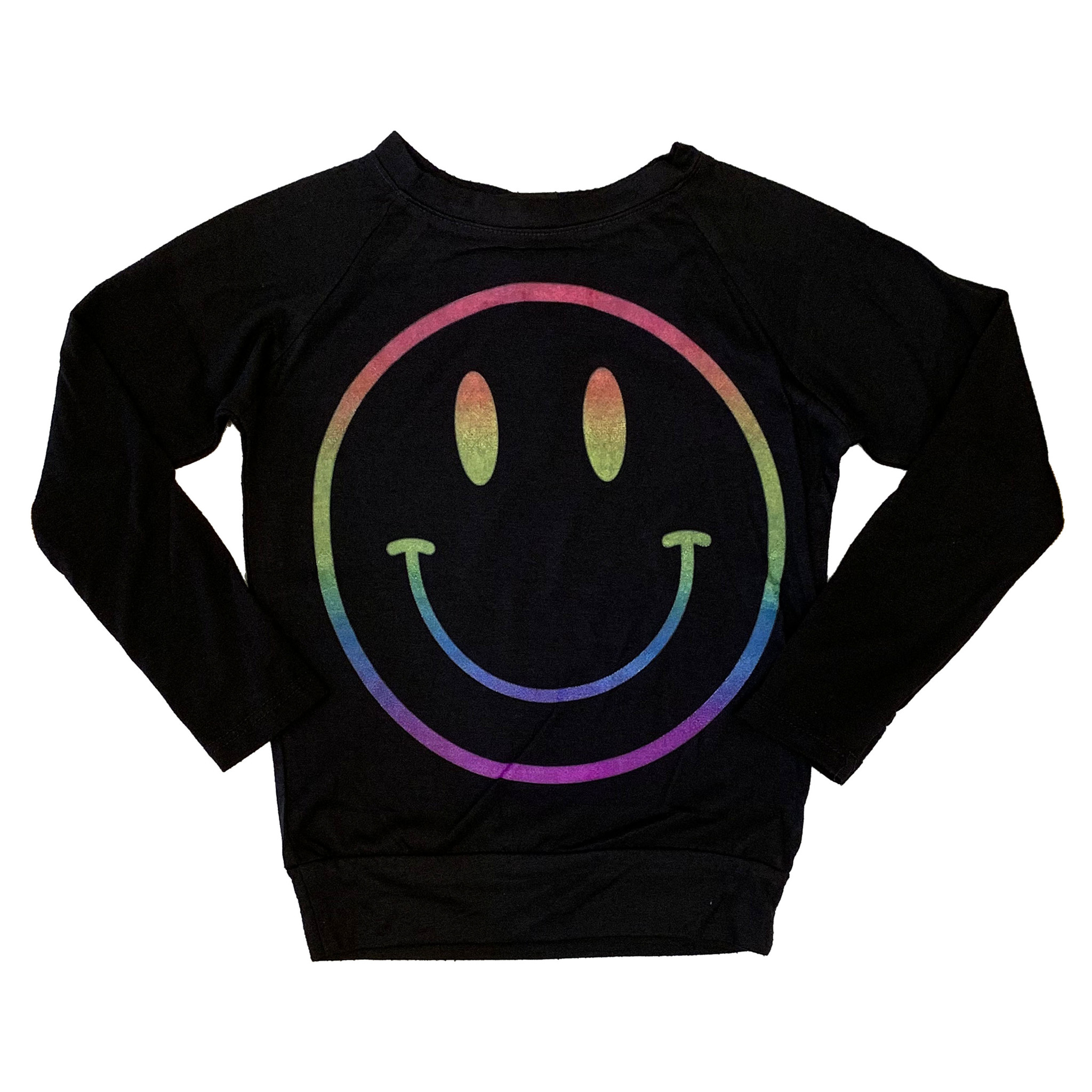 Firehouse Black Neon Smiley Top