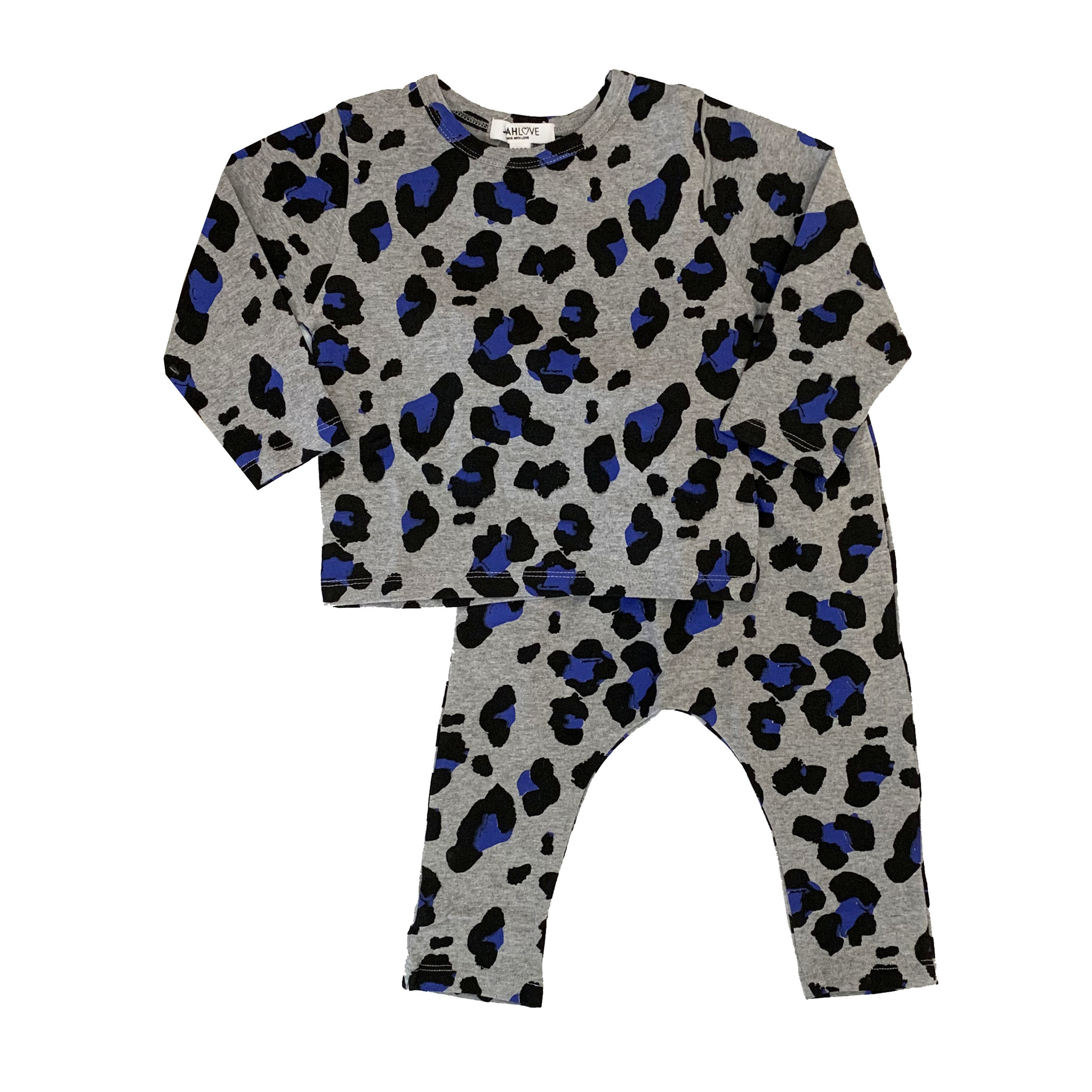 Joah Love Grey Leopard Print Set