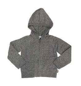 Splendid Grey Knit Zip Cardigan