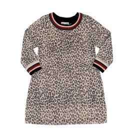 Splendid Light Pink Leopard Sweater Dress