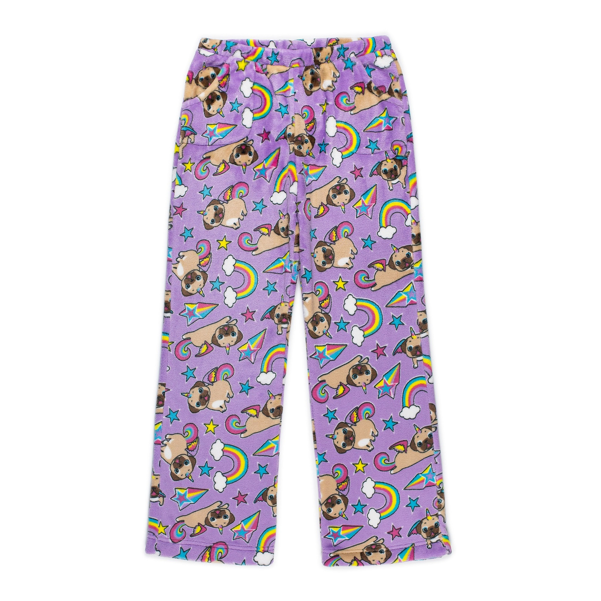 Candy Pink Pugicorn Plush Lounge Pants