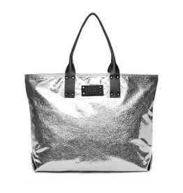 Sol & Selene Metallic Silver It Girl Bag