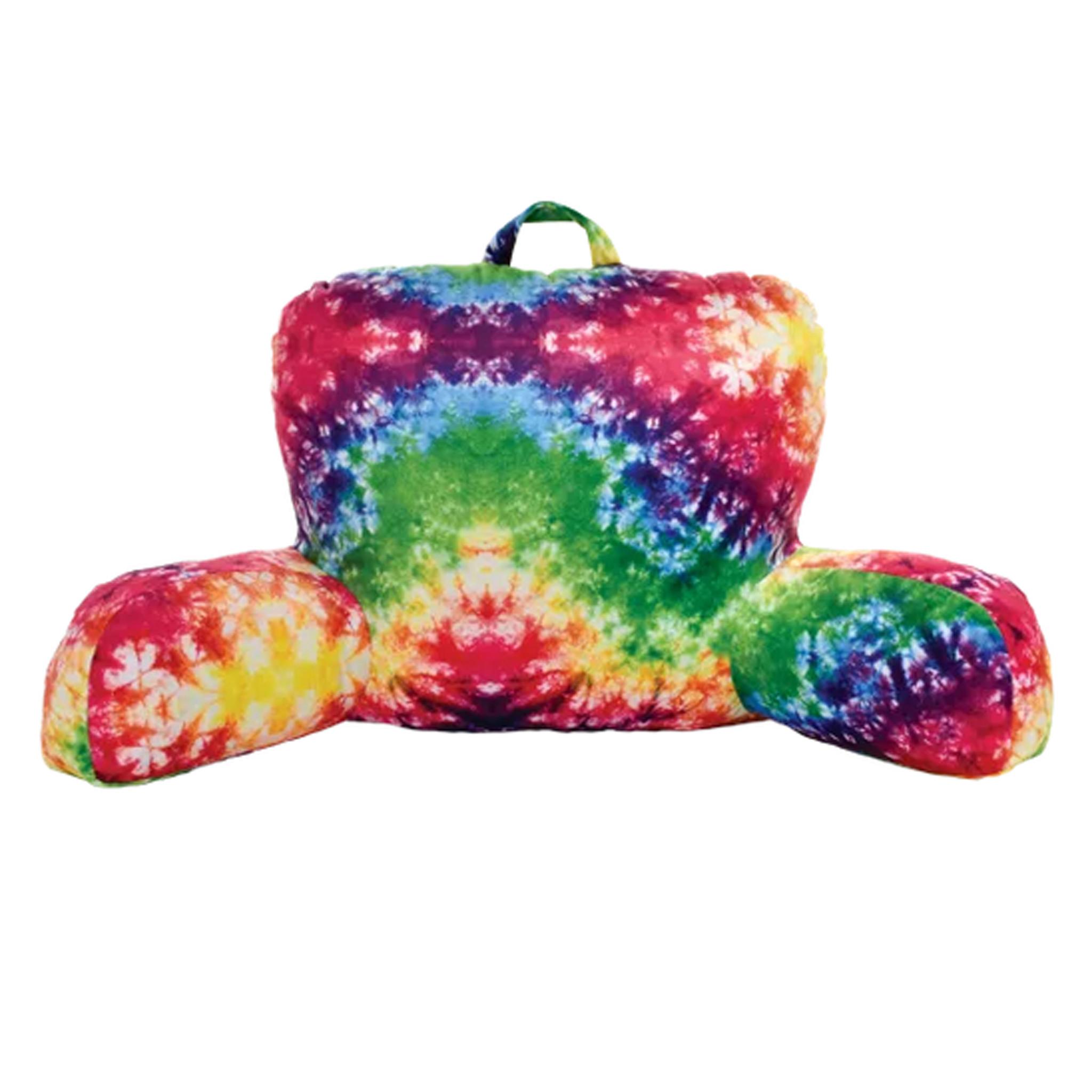 iScream Rainbow Tie Dye Lounge Pillow