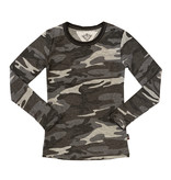 T2Love Grey Camo Crew Neck Top