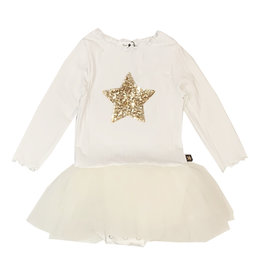 Petite Hailey Ivory & Gold Star Tutu Dress